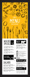 Restaurant cafe menu, template design. Food flyer. Royalty Free Stock Image