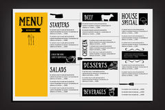 Restaurant cafe menu, template design. Food flyer. Royalty Free Stock Images