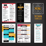 Restaurant cafe menu, template design. Food flyer. Royalty Free Stock Photography