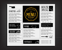 Restaurant cafe menu, template design. Food flyer. stock photography