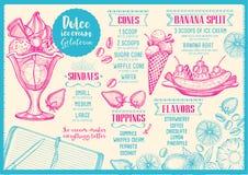 Restaurant cafe menu, template design. Royalty Free Stock Photos