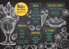 Restaurant cafe menu, template design. royalty free illustration