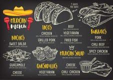 Restaurant cafe menu, template design. Royalty Free Stock Images