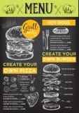 Restaurant cafe menu, template design. Stock Photos