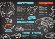 Restaurant cafe menu, template design. Stock Photo