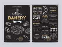 Restaurant cafe menu template design, vector Royalty Free Stock Photography