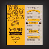 Restaurant cafe menu, template design. Stock Images