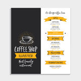 Restaurant cafe menu, template design. Royalty Free Stock Photo