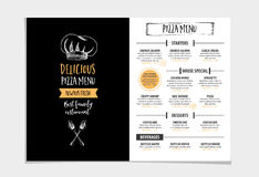 Restaurant cafe menu, template design. Royalty Free Stock Image