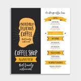 Restaurant cafe menu, template design. Royalty Free Stock Photo