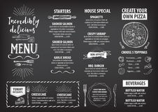 Restaurant cafe menu, template design. royalty free stock images