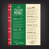 Restaurant cafe menu, template design.Vector illustration. Royalty Free Stock Images