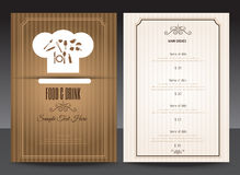 Restaurant or cafe menu vector design Stock Images
