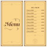 Restaurant or cafe menu Royalty Free Stock Photo
