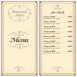 Restaurant or cafe menu Royalty Free Stock Photography