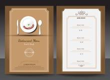 Restaurant or cafe menu vector design Stock Photos