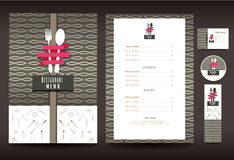 Restaurant or cafe menu vector design Royalty Free Stock Images