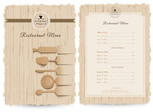 Restaurant or cafe menu vector design Royalty Free Stock Image