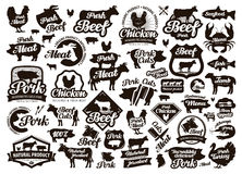 Restaurant, cafe vector logo. food, meat or menu, cooking icon Stock Photos