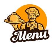 Restaurant, cafe vector logo. menu, dish, food or cook, chef icon Royalty Free Stock Photos