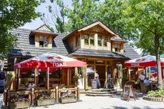 The Restaurant called Karczma Bacowka in Zakopane Royalty Free Stock Photography