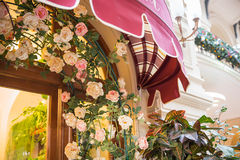 Restaurant canopy in Paris Royalty Free Stock Photo
