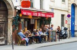 The restaurant Casa San Pablo, Paris, France. Royalty Free Stock Photography