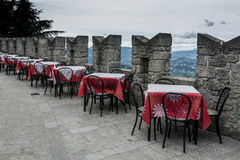 Restaurant in a castle Royalty Free Stock Photography