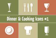 Restaurant and Catering Graphics. A Set of Restaurant and Catering Icons and Symbols Stock Photo