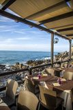 Restaurant at Cefalu, Sicily Stock Photography