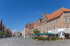 Restaurant at the central square of Luneburg Royalty Free Stock Photography