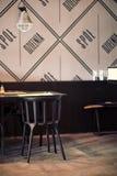 Restaurant: chair & table royalty free stock photos