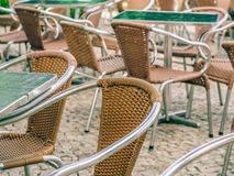 Restaurant chairs Royalty Free Stock Images