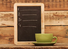 Restaurant chalkboard menu Stock Photo