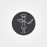 Restaurant chef, cook, waiter stick figure Royalty Free Stock Images
