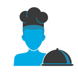 Restaurant chef's blue icon Stock Photography