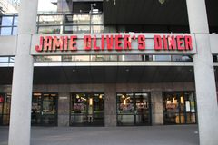 Restaurant of chief cook Jamie Oliver on the Weena in Rotterdam the Netherlands.  royalty free stock image