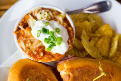 Restaurant Chili in Bowl Royalty Free Stock Images
