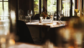 Restaurant Chilling Out Classy Lifestyle Reserved Concept Royalty Free Stock Image