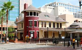 Restaurant on Church street in Orlando Florida Stock Photo