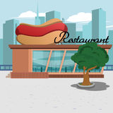 Restaurant in the city Royalty Free Stock Photography