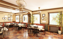 Restaurant In Classic Style Stock Photo