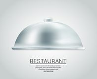 Restaurant cloche food tray Royalty Free Stock Photography