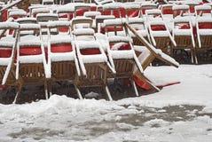 Restaurant Closed Due to Snow Stock Photos