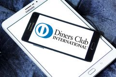Restaurant-Club Internationallogo stockfoto