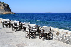 Restaurant on a coast Royalty Free Stock Photos
