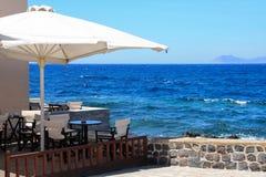 Restaurant on a coast Stock Image