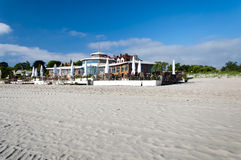Restaurant on the coast of Baltic sea. In Sopot, Poland Royalty Free Stock Photography