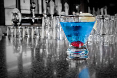 Restaurant Cocktail. An alcoholic beverage on a restaurant countertop Royalty Free Stock Image