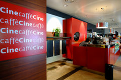 Restaurant and coffee bar in Rome Stock Images
